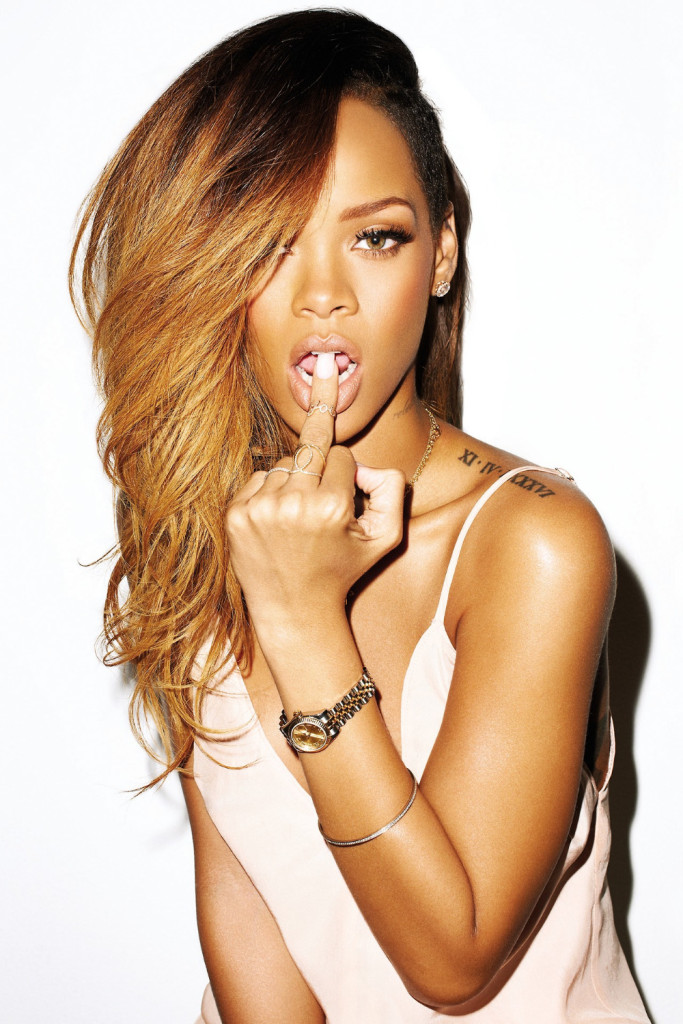 P0520-Rihanna-Tattoo-Hot-Sexy-Girl-ART-print-photo-Poster-for-meeting-room-24X36-